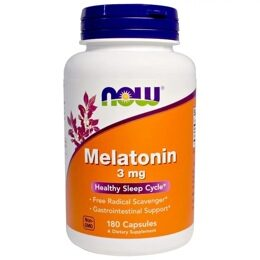 Melatonin 3 мг NOW 180 капс.