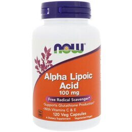 Alpha Lipoic Acid 100 mg NOW 120 кап.