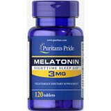 Melatonin 3 mg Puritan`s Pride 120 таб.