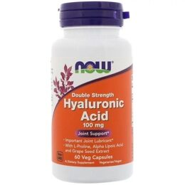 Hyaluronic Acid 100 мг Double Strenght NOW 60 капс.