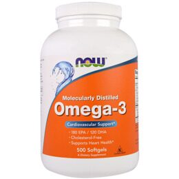 Omega-3 Fish Oil NOW 500 капс.