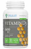 Life Vitamin D3 600ME Tree of Life 90 капс.