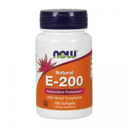Natural Vitamin E-200 NOW 100 капс.